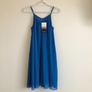 Blue Kensie Sleeveless Dress with Lace Detail
